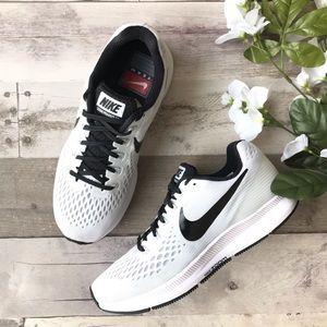 NIKE Zoom Pegasus 34 White Black Sneaker SZ 7.5